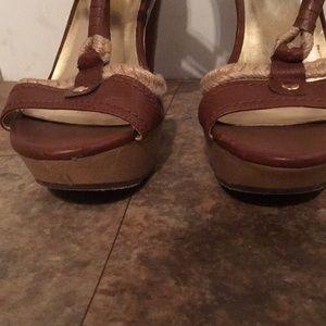 Mossimo Supply Co. Shoes - Mossimo platform wood look heels sz 9.